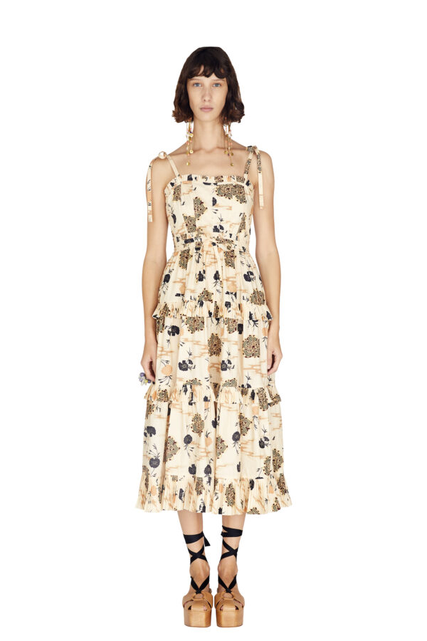 LUNE DRESS, Ulla Johnson, SUMMER 2021, RUNWAY LOOK