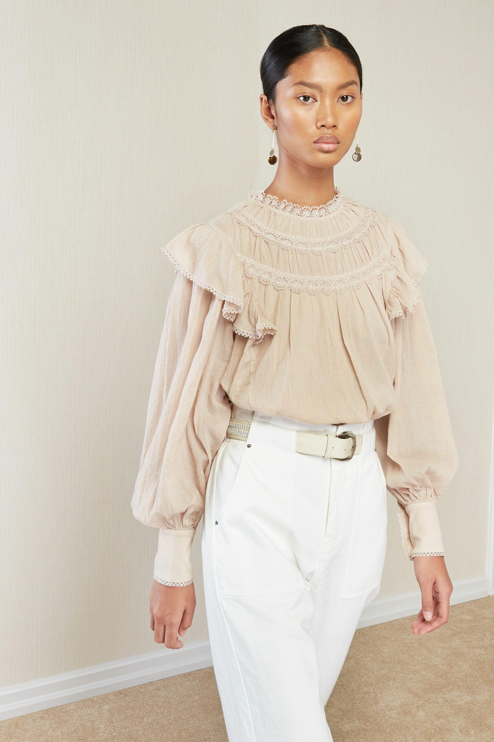 Margaret Blouse, Magali Pascal, Bohemian blouse, rosewood