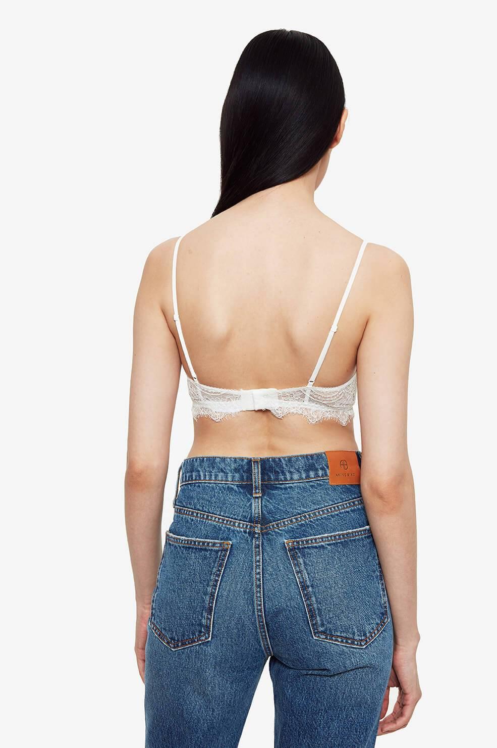 Anine Bing, lace bra, spitzen bh, ivory, essentials,