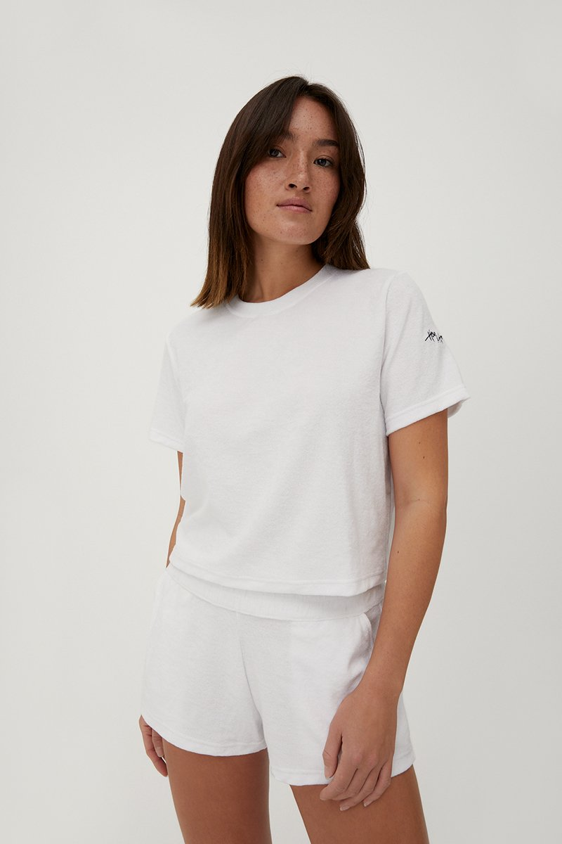 Hey Honey, Terry Shirt, white,
