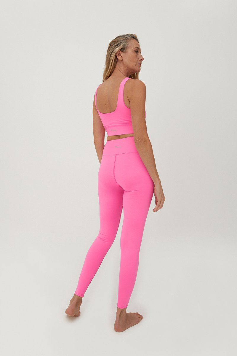 Hey Honey, Bustier Top, Neon Pink, Yogawear, Loungewear