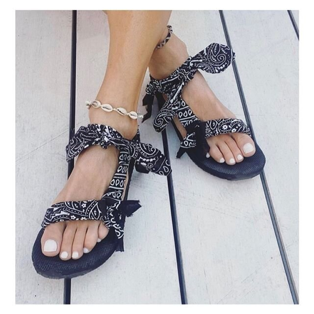 Trekky black bandana, Arizona Love, Sandals,