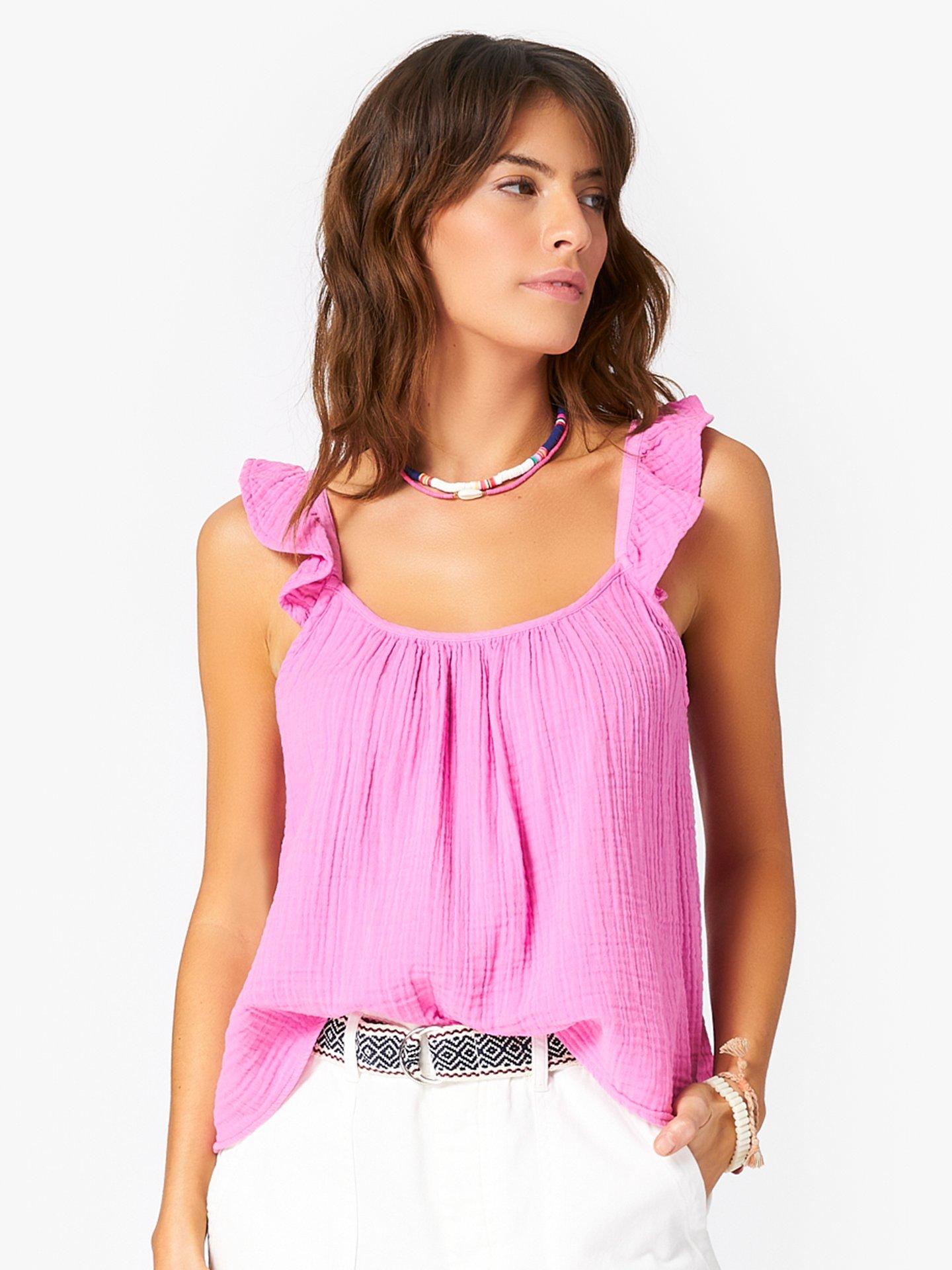 Xirena, Rue, Top, Sunset Pink