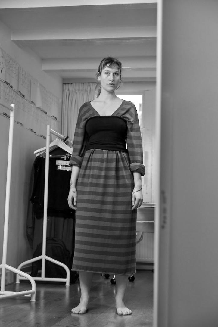 Kleid, Scoop, Extreme Cashmere, Strickkleid,Mini Tube, Gürtel, Extreme Cashmere, Accessoire, Navy
