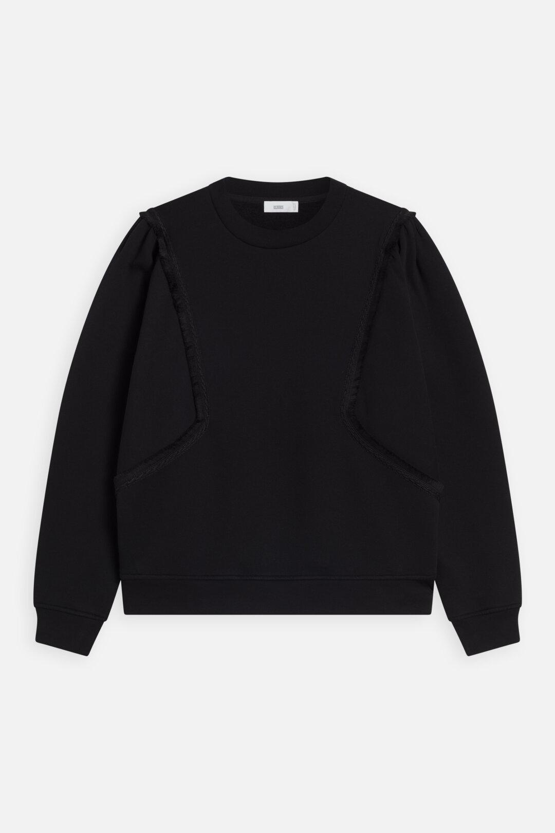 Sweatshirt, Closed, Black, C95060