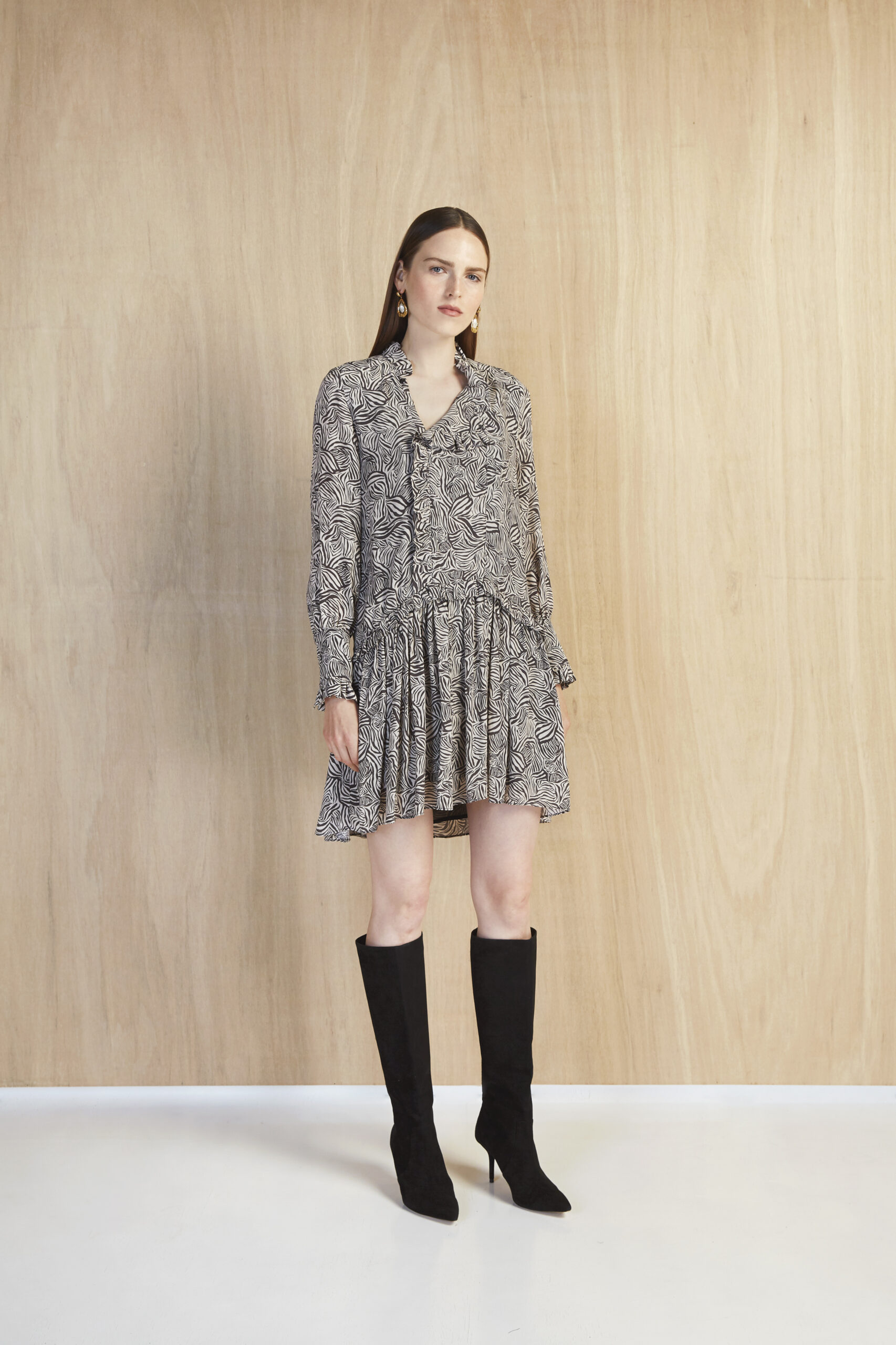 Kleid, Bianca, Magali Pascal, Shirt dress, Zebra Print