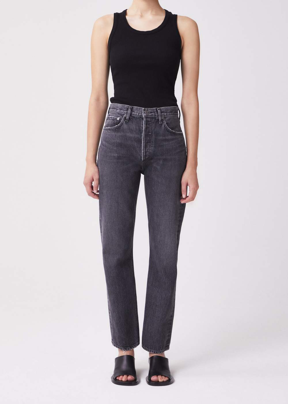 Jeans, 90s pinch, Agolde, grey washed denim