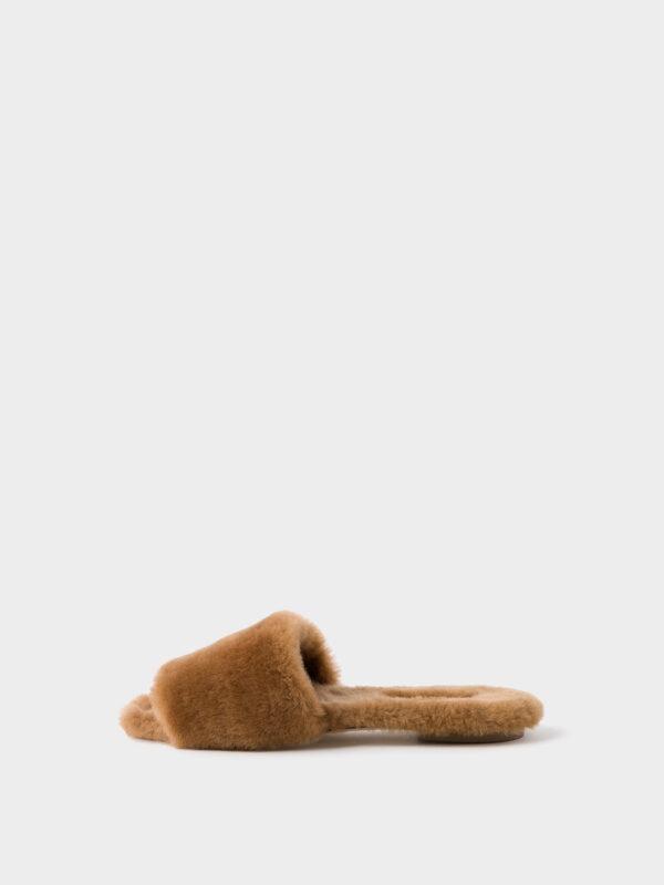 Sandale, Anna, Aeyde, Shearling fur, Fellsandalen