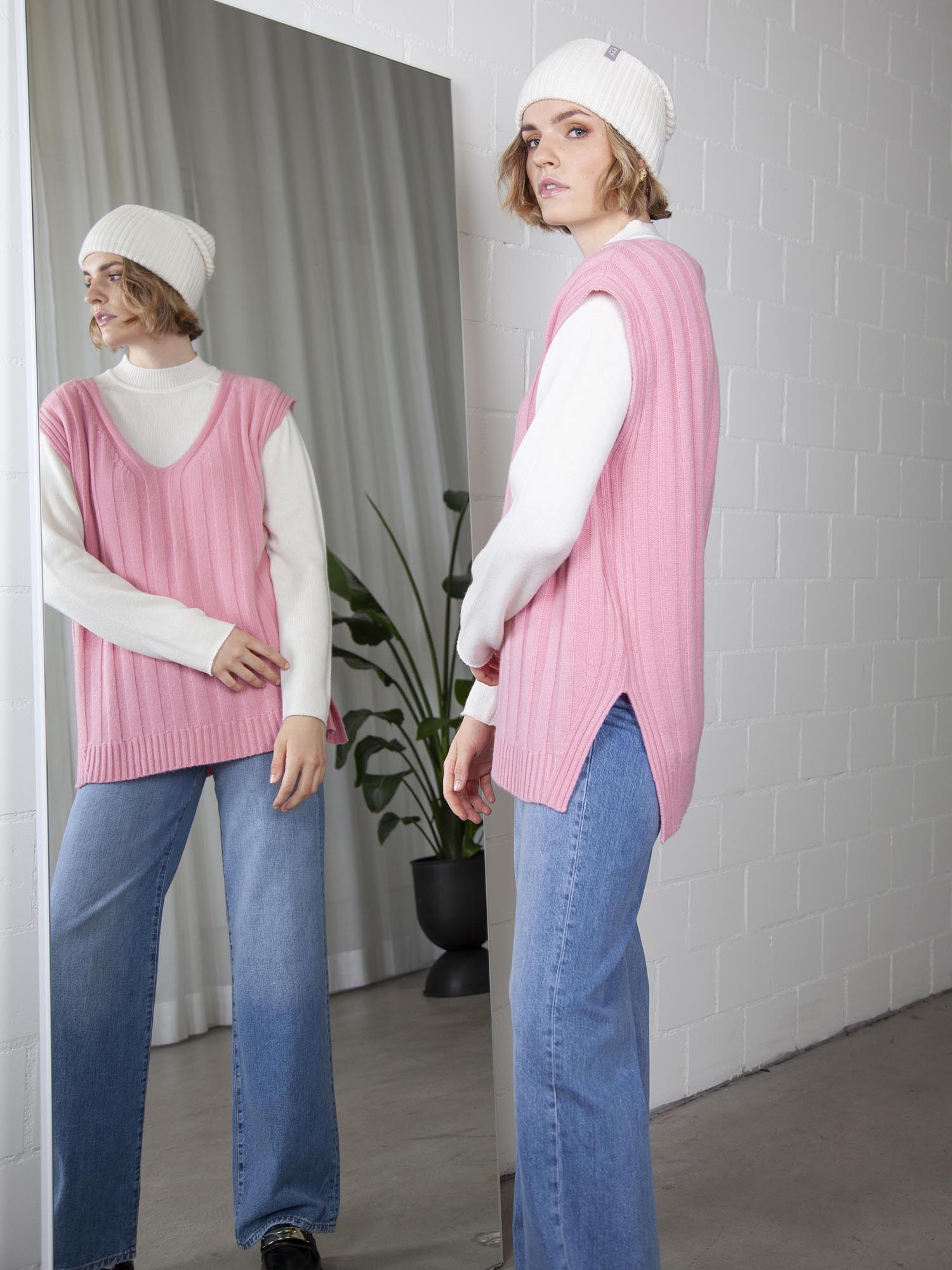 Pullunder, Ftc Cashmere, oversized fit