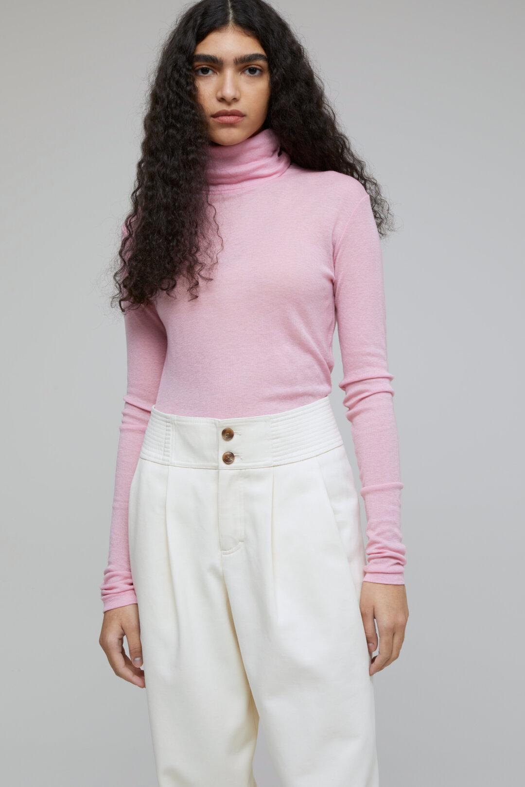Rollkragenshirt, Closed, pink